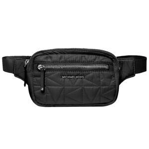 NWT MICHAEL KORS Winnie Medium Belt Bag Fanny Pack MK Black 35T0UW4N2C Logo
