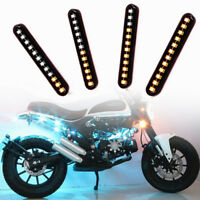 Switchback Car DRL 12 LED Light Strip Tube Sequential Turn Signal Lights Cool  X