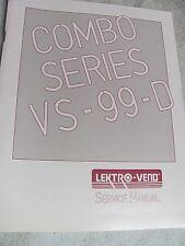 LEKRTO-VEND COMBO VS-99-D Service manual & parts breakdown-Combo Series