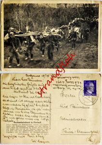 AK Feldpost 2. WK  Reichsarbeitsdienst in Finnland  ,  gelaufen  1943