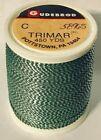 Gudebrod TRIMAR Rod Building Thread 1 oz Spool Green/Silver # 5896S Sz C 450 Yd