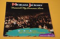 MICHAEL JACKSON LP FAREWELL MY SUMMER LOVE 1°ST ORIG USA 1984 POSTER SIGILLATO