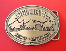 2010 muledays Bishop Ca édition limitée boucle ceinture