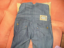 ORIGINALI JEANS SALOPETTE BUSTIER BLU PANTS TROUSERS HOSE CORSET MEDIUM SIZE 30