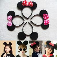 Minnie Mouse Ears Bow Headband Hen Nights Womens Mickey Party Fancy Dress Girls