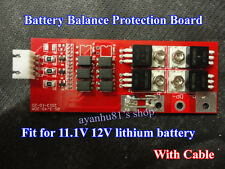 3S packs 11.1V 12V 20A Lithium Battery Protection BMS Board W/ Balanced Charging
