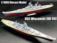 WWII battleship USS Wisconsin BB-64 diecast 1/1000 model ship