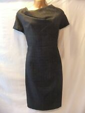 39fc689bf8c17 LADIES NWT Dorothy Perkins 16 GREY SERGE/SHADOW CHECK/FEATURE NECK/CAP  SLEEVE FR