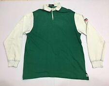 VTG 90s POLO RALPH LAUREN RUGBY K SWISS LONG SLEEVE P WING STADIUM BEAR SHIRT