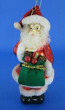 Santa Claus Large Glass Ornament Thomas Pacconi Plush Fur Trim 2003 Collection