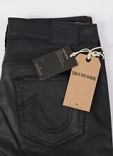 NEW Women's True Religion Jeans HALLE Super Skinny Black size 29 Mid Rise Pants