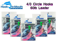 5 Snapper Rigs Flasher Fishing Rig - Paternoster 60lb  4/0 Hooks Surf Lure Pink
