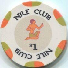 12 pc 12 color set 10 gm ceramic NILE CLUB poker chip sample set #252