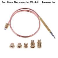 Universal 1X Thermoelement 600 mm mit 5 Adaptern Gasgrill Gasherd Br?ter NEU GE