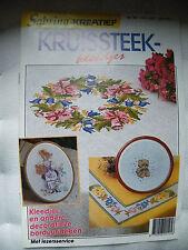 SABRINA-KREATIEF Nr. 48 Kreuzstich Heft auf Niederländisch! Stickvorlagen