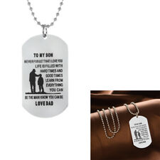 Men Pendant TO MY SON Military Army Style Dog Tag Necklace Jewelry Deluxe