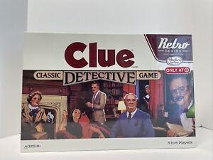 Clue Classic Detective Board Game Retro 1986 Edition Hasbro 2014. New Sealed