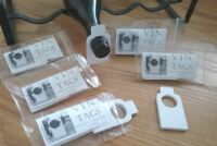 Vin Tags, Wine Collection Organisers, PLAIN DESIGN 5 packs of 50 bottle tags.