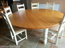8,10,12 Seater Round Chunky Farmhouse  Dining Table  2.09m diameter