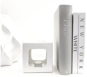White Ceramic Wax Melt Oil Burner Tealight Holder Diffuser Ornament Gift Talin