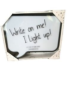 Speech Bubble Memo Light Lamp Dry Wipe Memo Note Message With Pen New In Box