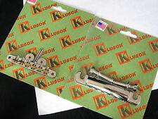 Kluson KABRWRB-N KSTOPAL-N  ABR-1 Tuneomatic Bridge Aluminum Tailpiece Set