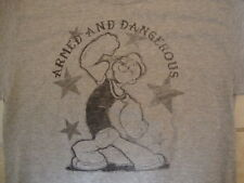Popeye The Sailor Man Armed And Dangerous Throwback Distressed T Shirt Size M
