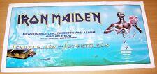 "IRON MAIDEN REC COM PROMO PLASTIC WINDOW POSTER ""7th SON OF A 7th SON"" LP 1988"