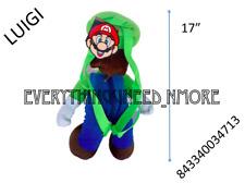 "Nintendo Super Mario LUIGI Bros Large 17"" plush Doll Backpack toy-4713"