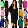 Oversized Ladies Women Loose Baggy Chunky Knitted Jumper Top Thick Sweater 8-14