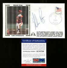 Nolan Ryan Signed FDC First Day Cover Autographed Astros PSA/DNA AC32709