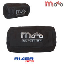 MOTO COMMUTER ROLL BAG 50-LITRE WATERPROOF BLACK TOUGH LUGGAGE VELCRO MOTORCYCLE