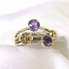 Band Amethyst Sterling Silver Fine Rings