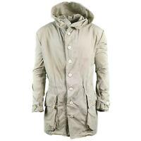 Original Swedish army snow parka white military jacket M62 hooded surplus coat