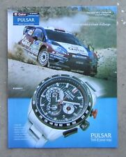 SEIKO PULSAR WATCH Magazine Page Sales Advertisement FORD FOCUS WRC RALLY SPORT