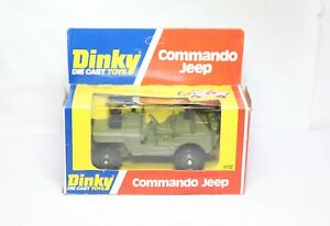 Dinky 612 Commando Jeep In Its Original Box - Near Mint Vintage 1970s Army