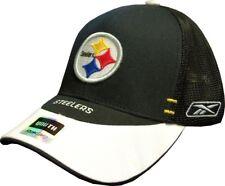 Pittsburgh Steelers NFL Reebok Preseason Black/White Hat - Youth 4-7 Years