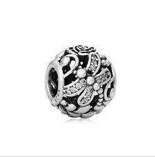 1pcs Silver Charms Butterfly Hollow out Beads fit European Charm Bracelet