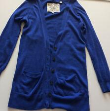 JACK WILLS Electric Cobalt BLUE Soft Touch LIGHTWEIGHT Cashmere CARDIGAN Size 8