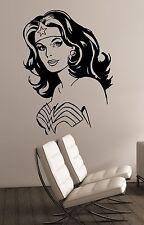 Wonder Woman Wall Sticker Vinyl Decal Superhero Art Home Girls Room Decor wmv4
