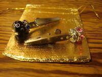 Silver SKULL Custom Made Alligator Tobacco Roach Clip in Gift Pouch   New Memo