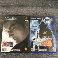 Tekken PS2 PlayStation 2 PAL Game Bundle x2 Tekken Tag Tournament & Tekken 4