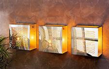 Wandteelichthalter Wandkerzenhalter Wandleuchter Metall Silber modern 3er Set