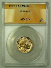 1937-D Buffalo Nickel 5c ANACS MS-65 (A) (WW)