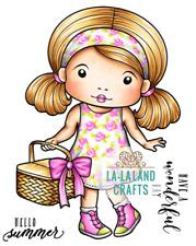 PICNIC MARCI-La-La Land Crafts Cling Mount Rubber Stamp-Stamping Craft