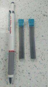 Rotring Rapid Pencil (White Barrel)  0.7mm WITH FREE 24x HB  LEADS- FREE POSTAGE