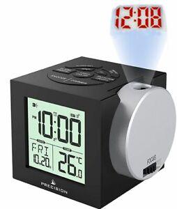 Precision Radio Controlled Atomic Projection Display Alarm Clock Projector AP057