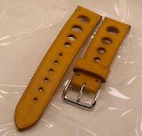Cinturino Artigianale -Rally- Crono-watch - vera pelle 22 mm made in italy