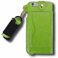 Matte Leather Cases & Covers with Strap for Apple Mobile Phones