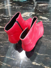 Zara Trafaluc Red Leather Kitten Heel Pointed Toe Ankle Boots Size  EU 39  sexy!